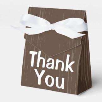 Caja Para Regalos Brown de madera rústico le agradece - boda