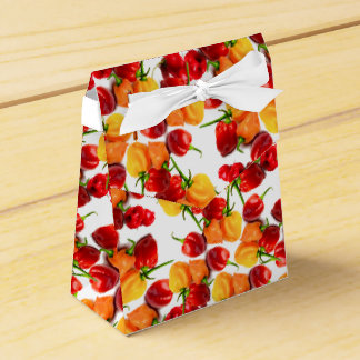 Caja Para Regalos Comida caliente anaranjada de las pimientas rojas