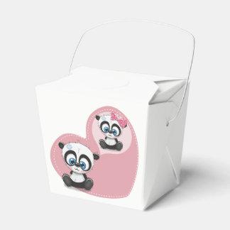 Caja Para Regalos Compromiso rosado del banquete de boda del oso de