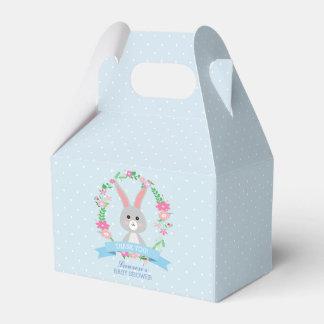 Caja Para Regalos Conejito gris y fiesta de fiesta de bienvenida al