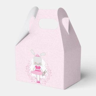 Caja Para Regalos Conejito lindo del tutú personalizado