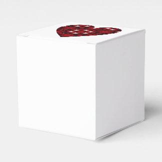 Caja Para Regalos Corazón de color rojo oscuro del caleidoscopio con