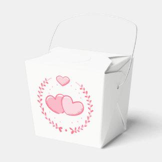 Caja Para Regalos Corazones y banquete de boda rosados florales de