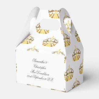 Caja Para Regalos Corona del oro en el boda de encargo del color