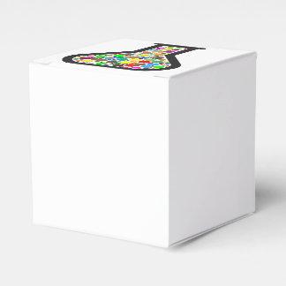Caja Para Regalos Cubilete con las sustancias químicas del arco iris