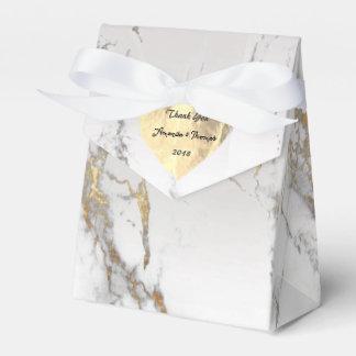 Caja Para Regalos Décimosexto favor de plata del oro del mármol de