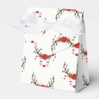 Caja Para Regalos Día de fiesta floral moderno del reno del vintage