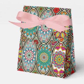 Caja Para Regalos Diverso estampado de flores oval colorido de las