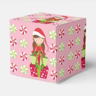 Caja Para Regalos Duende femenino con los caramelos