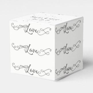 Caja Para Regalos el amor Mano-indicado con letras y las