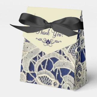Caja Para Regalos El boda elegante de los azules marinos de marfil
