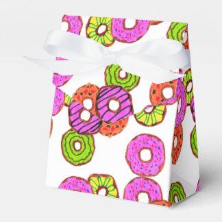 Caja Para Regalos el buñuelo helado colorido de los anillos de
