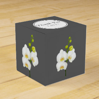 Caja Para Regalos El casarse blanco de las orquídeas le agradece