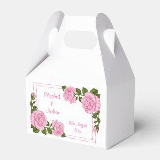 Caja Para Regalos El casarse de la esquina rosado bonito de los