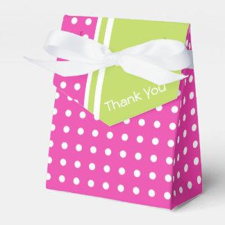 Caja Para Regalos El lunar rosado y verde personalizado le agradece