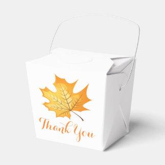 Caja Para Regalos El naranja del otoño le agradece hojear boda