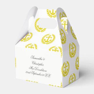 Caja Para Regalos Elija su boda temático náutico del ancla del color