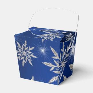 Caja Para Regalos Estrellas azules del navidad con el cristal de