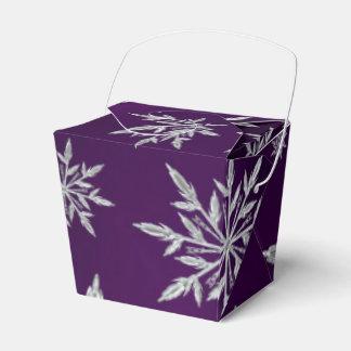 Caja Para Regalos Estrellas púrpuras del navidad con el cristal de
