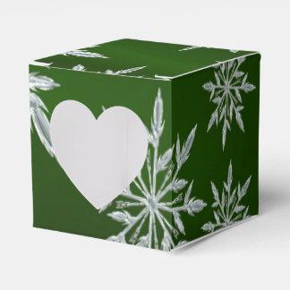 Caja Para Regalos Estrellas verdes del navidad con el cristal de