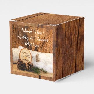 Caja Para Regalos Falsa madera del granero, boda de madera del