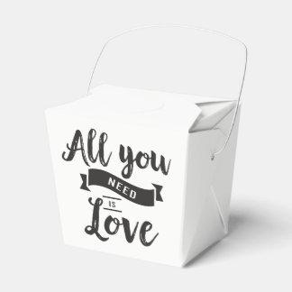 Caja Para Regalos Favor de banquete de boda blanco y negro del amor