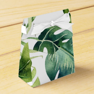 Caja Para Regalos Favor elegante blanco del boda de las hojas