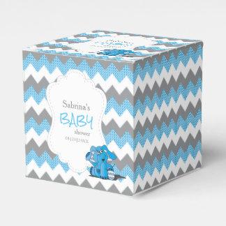 Caja Para Regalos Fiesta de bienvenida al bebé azul y gris del