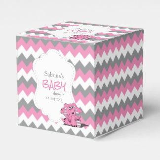 Caja Para Regalos Fiesta de bienvenida al bebé rosada y gris del