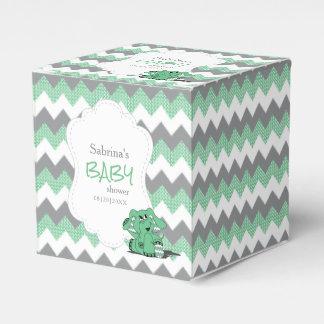 Caja Para Regalos Fiesta de bienvenida al bebé verde y gris del