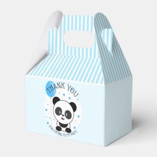 Caja Para Regalos Fiesta de cumpleaños azul de la panda de Cutie
