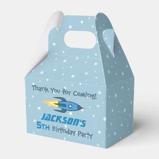 Caja Para Regalos Fiesta de cumpleaños retra azul de Rocketship