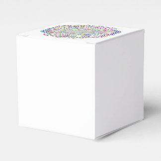 Caja Para Regalos Flor cromática de la mandala del arco iris