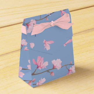 Caja Para Regalos Flor de cerezo - azul de la serenidad