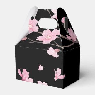 Caja Para Regalos Flor de cerezo - negro