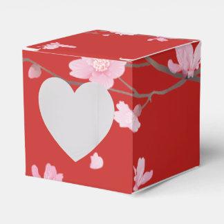 Caja Para Regalos Flor de cerezo - rojo