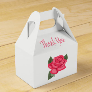 Caja Para Regalos Floral gracias las flores color de rosa rosadas
