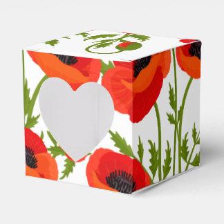 Caja Para Regalos Flores de la amapola