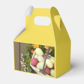 Caja Para Regalos Flores de la primavera y cesta de huevos de Pascua