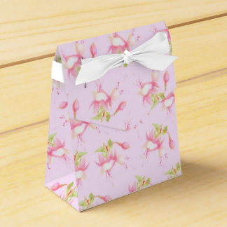 Caja Para Regalos Flores fucsias rosadas