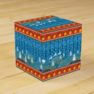 Caja Para Regalos Fondo mágico del navidad