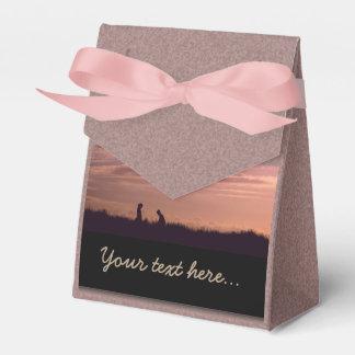 Caja Para Regalos Gente dulce de la silueta de la puesta del sol