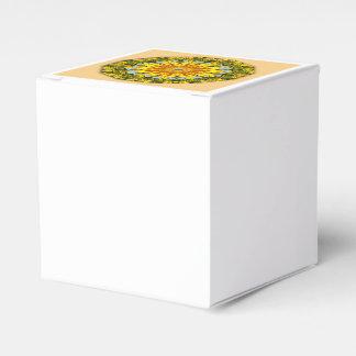 Caja Para Regalos Girasoles, mandala 004 de la naturaleza