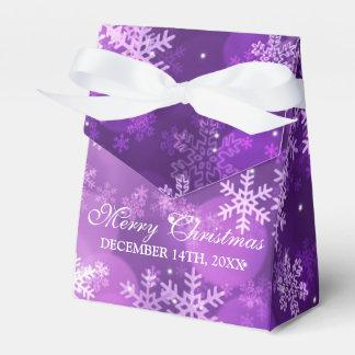 Caja Para Regalos Gracias púrpura de la chispa del día de fiesta del