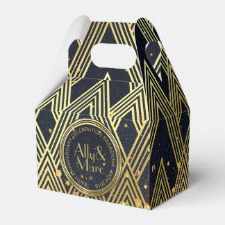 Caja Para Regalos Gracias purpurina del oro de Gatsby del art déco