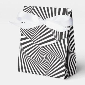 Caja Para Regalos Ilusión óptica espiral blanca negra hermosa