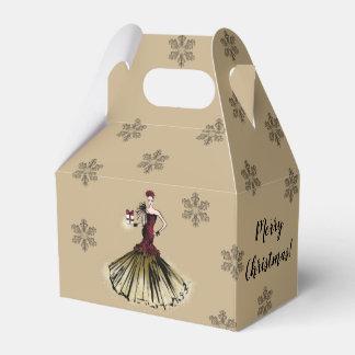 Caja Para Regalos Ilustracion de la moda del navidad con el paquete