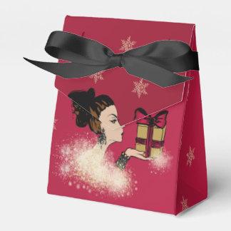 Caja Para Regalos ilustracion de la moda el chispear del navidad