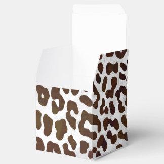 Caja Para Regalos Impresión del chocolate del leopardo