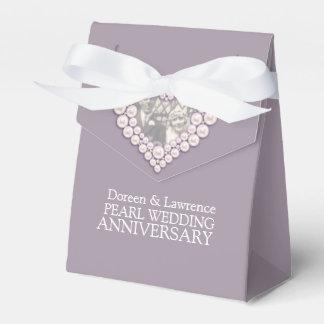 Caja Para Regalos La foto del corazón del boda de la perla le